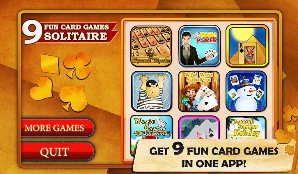 9 Fun Card Games - Solitaire, Gin Rummy, Mahjong - Android ... Funnygames Patience 1