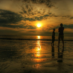 Two Girls by Budi Wahono - Landscapes Sunsets & Sunrises (  )