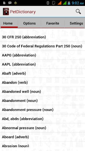 Petroleum Dictionary