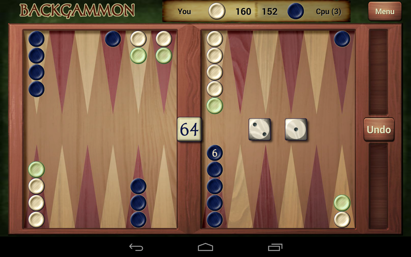 Backgammon Online Two Player