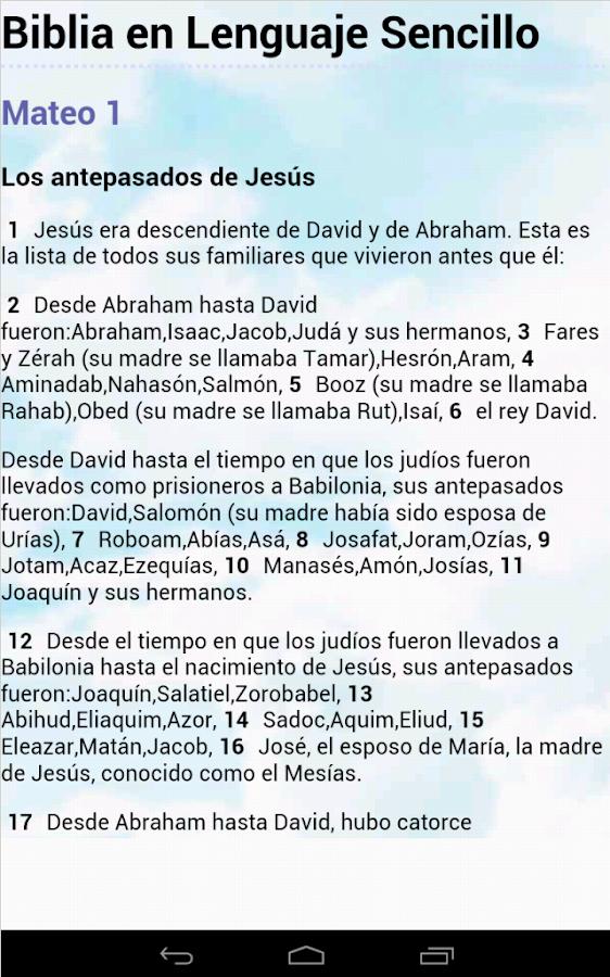 Biblia Lenguaje Sencillo - screenshot