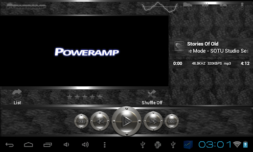 poweramp skin black snake Screenshot 10