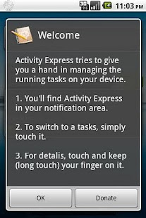 Activity Express Task Manager - screenshot thumbnail