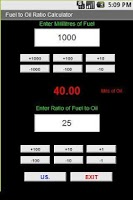 Screenshot of 2 Stroke Mix Calculator