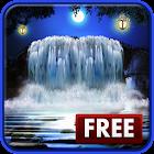 Night 3D Waterfall Wallpaper icon