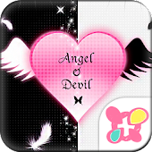 Gothic Theme Angel & Devil