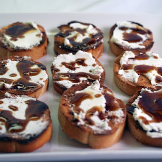 Goat Cheese And Balsamic-Honey Crostini