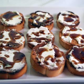Goat Cheese And Balsamic-Honey Crostini.