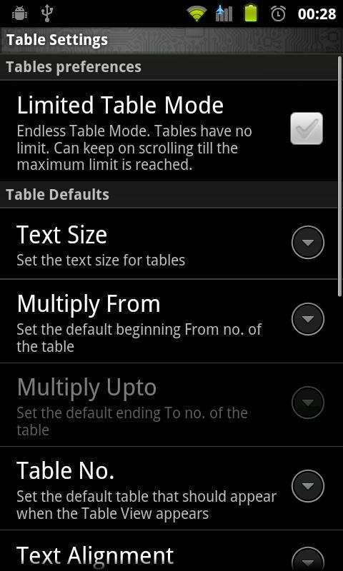 Multiplication Tables Legacy - screenshot