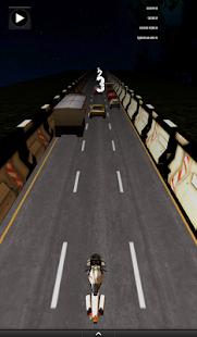 3D Night Motorcycle Racing