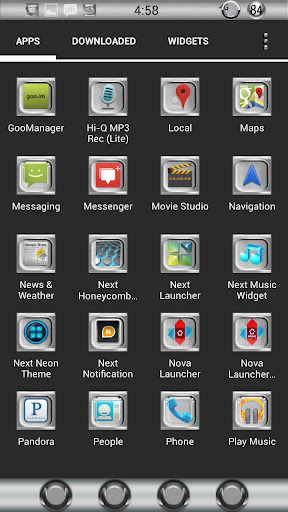Giniro Launcher adw apex nova