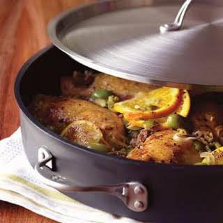 Braised Chicken with Mediterranean Wine Sauce.