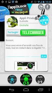 l'app du soir fête la musique - screenshot thumbnail