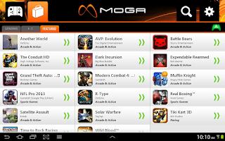Screenshot of MOGA Pivot