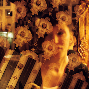 Pattern by Adrian Popescu - Abstract Patterns ( abstract, film, girl, pattern, analogue, analog, multiexposure, double, portrait )
