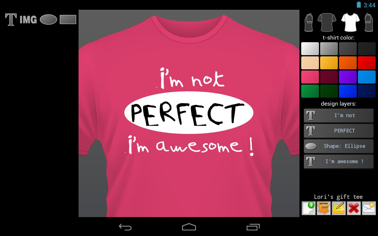 Design of t-shirt