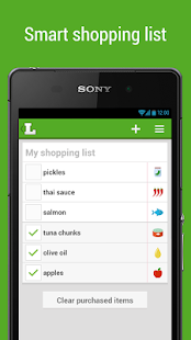 Grocery Shopping List Listonic - screenshot thumbnail