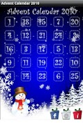 Screenshot of Christmas Advent Calendar 2010