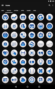 Clean Blue - Icon Pack Screenshot 6