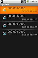 Screenshot of MyCallBot Caller ID