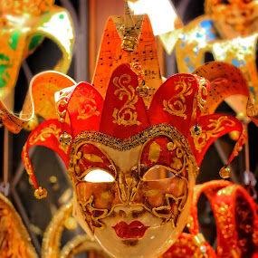 Venetian Mask by Kimmarie Martinez - Artistic Objects Other Objects ( red, italian, mask, epcot, venetian mask, italy, venetian )