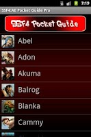 Screenshot of SSF4 AE Pocket Guide
