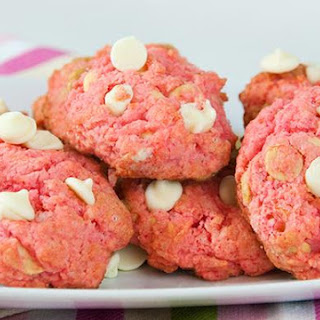 Pink Velvet White Chocolate Cookies