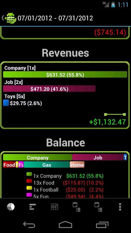 MoneyDroid Lite - screenshot