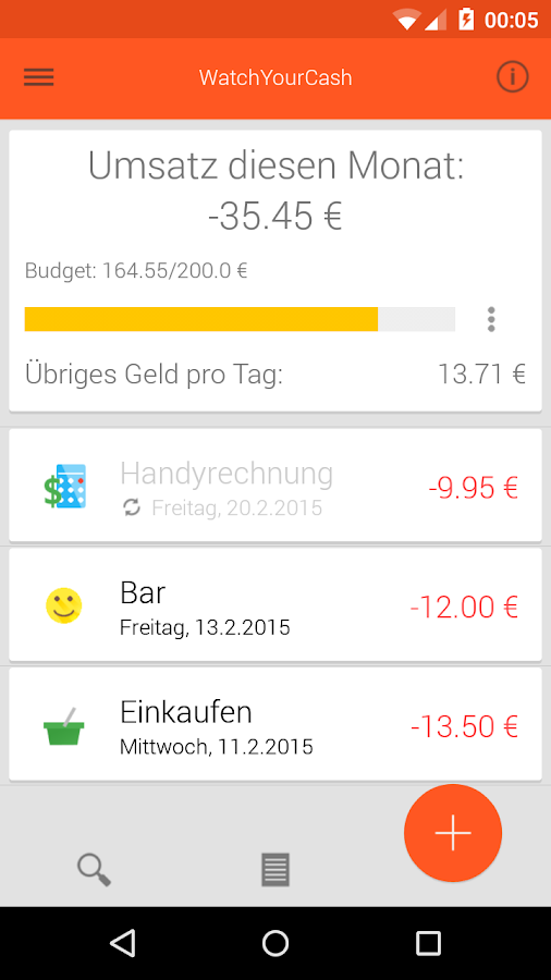 WatchYourCash-Cash Tracker- screenshot