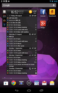 All-in-One Agenda widget Screenshot