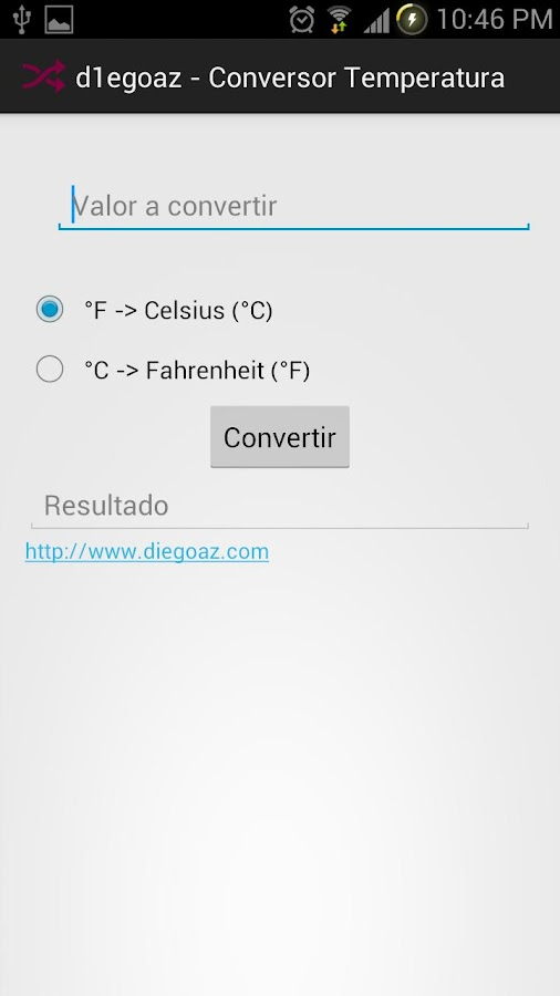 Temperature Converter d1egoaz - screenshot