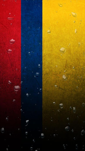 Colombia flag water effect LWP