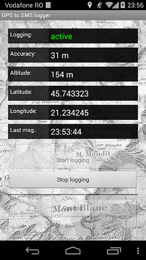 GPS to SMS logger