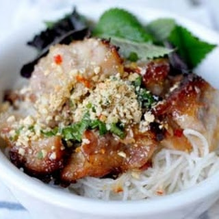 Lemongrass Pork Belly With Noodles