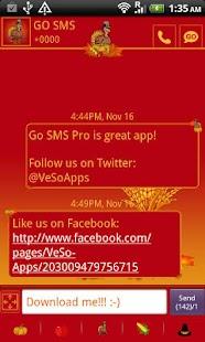 GO SMS Pro Thanksgiving theme - screenshot thumbnail
