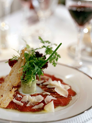 carpaccio-appetizer-SeaDream - Try the carpaccio appetizer on a SeaDream sailing.