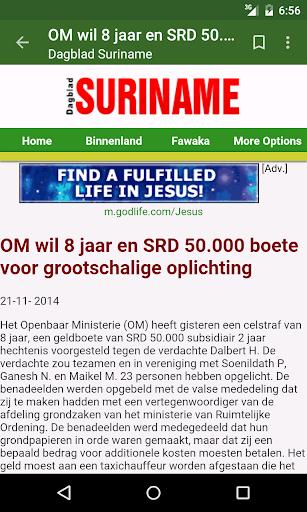 Suriname Nieuws