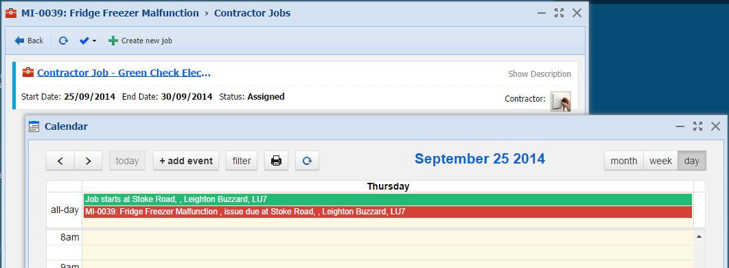 Contractor in Calendar