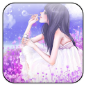 Lavender live wallpaper icon