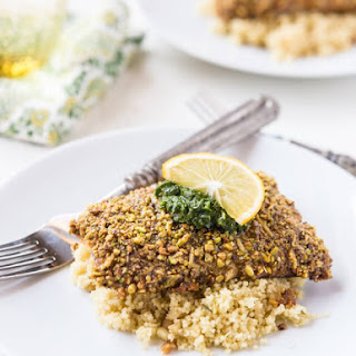 Pistachio Crusted Salmon with Pesto