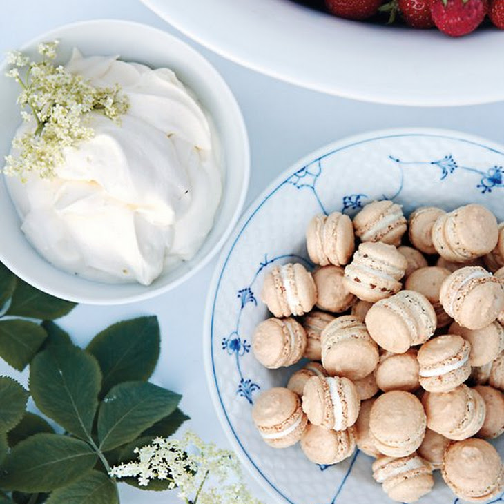 Toasted-Almond Macarons with White Chocolate Recipe