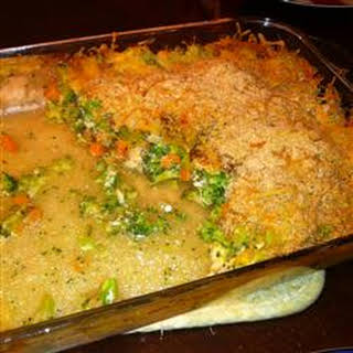 Cheesy Chicken Broccoli Bake.