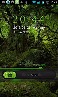 Deep Forest Go Locker theme - screenshot thumbnail