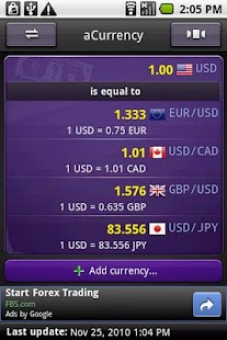 aCurrency (exchange rate) - screenshot thumbnail