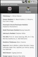 Screenshot of Komoditas Indonesia