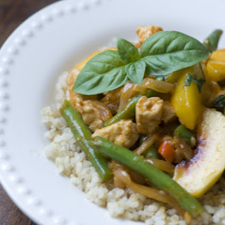 Chicken and Peach Curry.