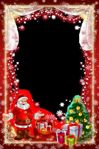 크리스마스와 새 해 사진 프레임