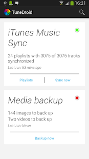 TuneDroid Backup & iTunes Sync- screenshot thumbnail