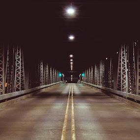 Steel Shadows by Luke Collins - Buildings & Architecture Bridges & Suspended Structures ( wisconsin, sturgeon bay, door county, d7100, august, nikon, michigan street bridge )