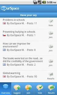 Ourspace- screenshot thumbnail